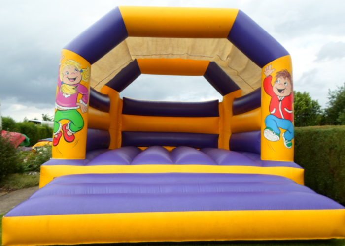 Purple & Yellow Bouncy Castle