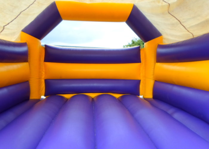 Purple & Yellow Bouncy Castle Hire