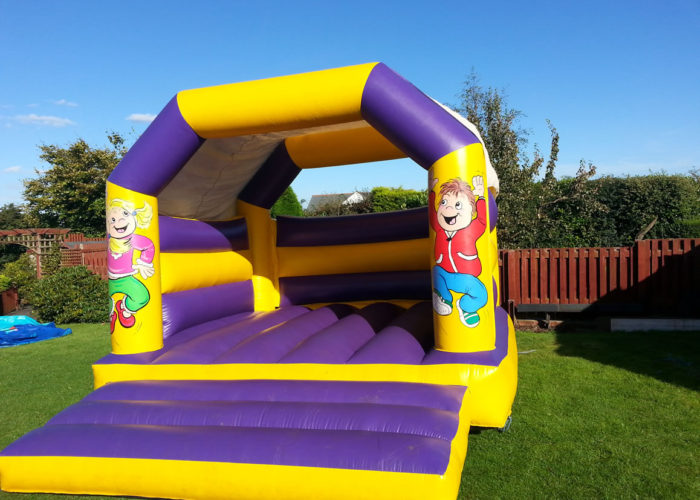 Purple & Yellow Bouncy Castles