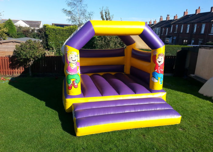 Purple & Yellow Bouncy Castle Huddersfield