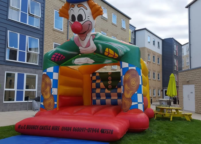 clown adult bouncy castle