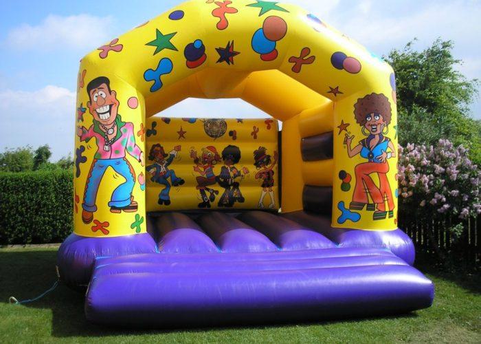 Disco adult bouncy castle hire