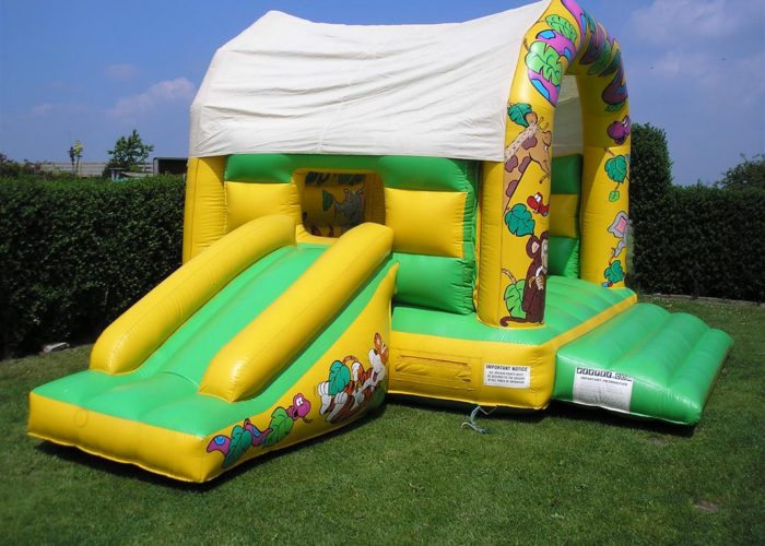 jungle bouncy castle slide