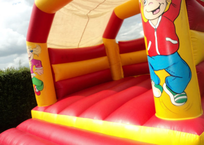 Bouncy Castle Red & Yellow